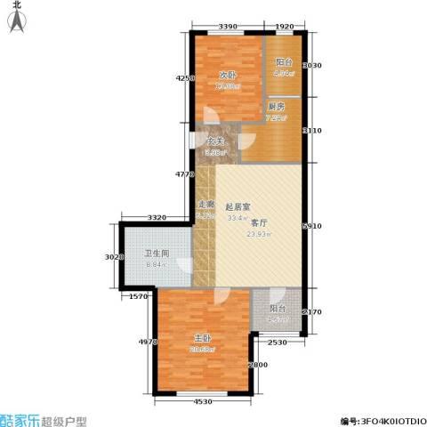 天通苑北二区2室0厅1卫1厨104.00㎡户型图