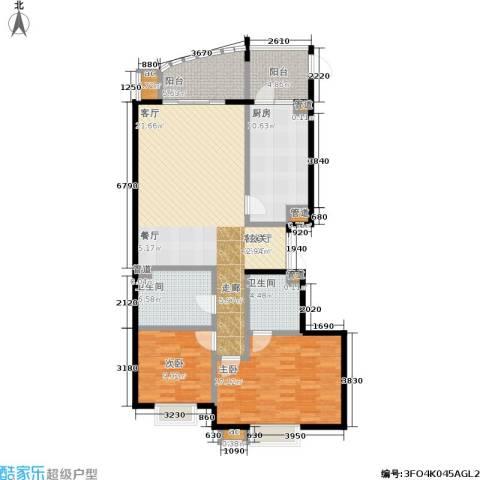 水上华城2室1厅2卫1厨121.00㎡户型图