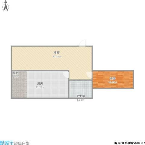 欣豪凤凰城1室1厅1卫1厨96.00㎡户型图