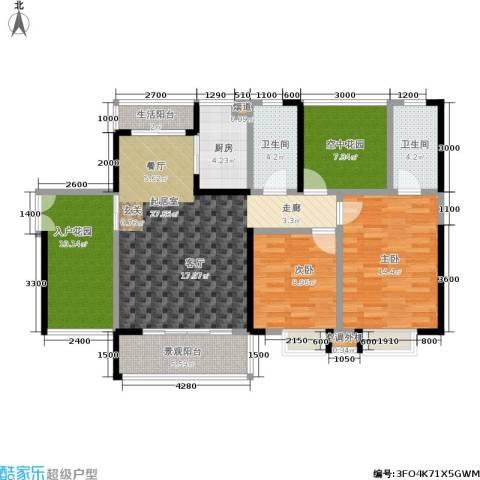 金汇上元2室0厅2卫1厨111.00㎡户型图