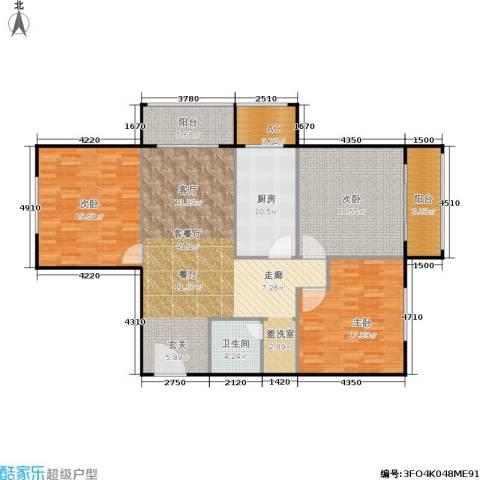 椿树园3室1厅1卫1厨170.00㎡户型图