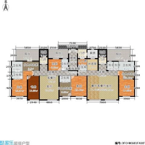 华润置地橡树湾5室2厅7卫1厨370.00㎡户型图