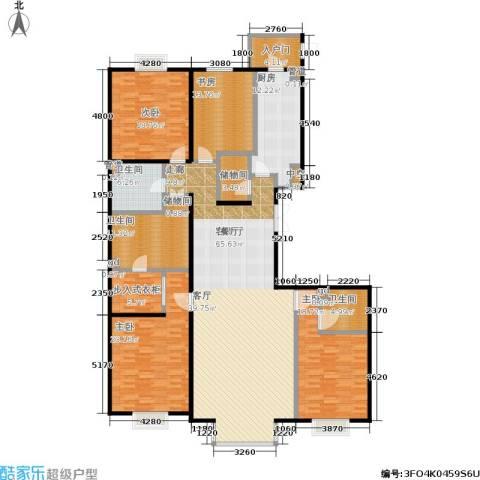 水上华城4室1厅3卫1厨211.00㎡户型图