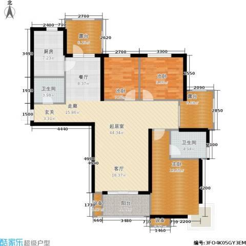 金屋·秦皇半岛3室0厅2卫1厨138.00㎡户型图