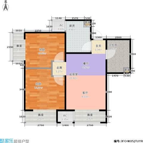 金融街·融汇2室0厅1卫1厨72.00㎡户型图