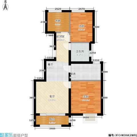 众美城3室0厅1卫1厨91.00㎡户型图