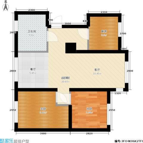 众美城2室0厅1卫1厨89.00㎡户型图