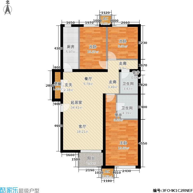 沸城8-3号楼B1(已售户型