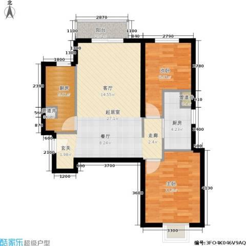 远洋沁山水2室0厅0卫2厨85.00㎡户型图