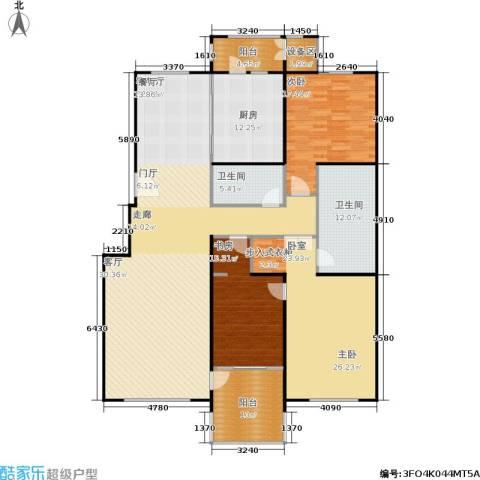朱雀门3室1厅2卫1厨180.00㎡户型图
