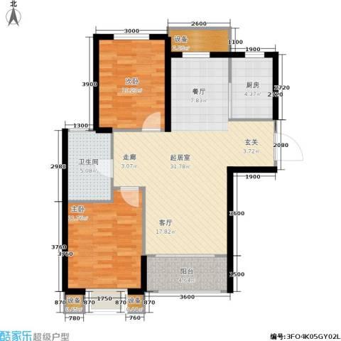 金屋·秦皇半岛2室0厅1卫1厨98.00㎡户型图