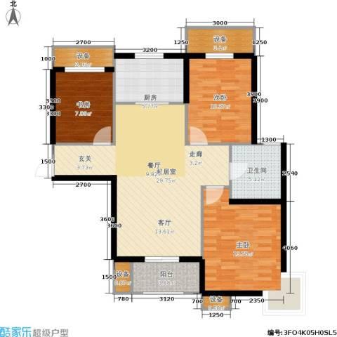 金屋·秦皇半岛3室0厅1卫1厨112.00㎡户型图