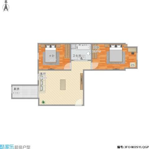 水榭春天2室1厅1卫1厨73.00㎡户型图