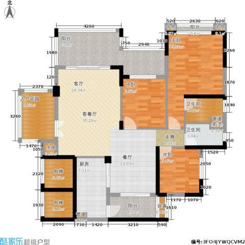 金海岸花园・聚湖3室1厅2卫1厨133.00㎡户型图