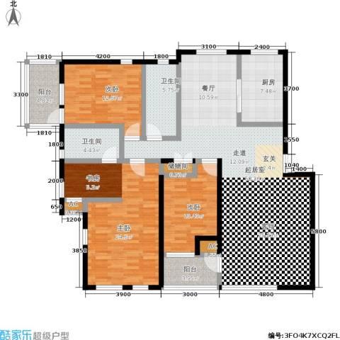 长城・都市阳光二期3室0厅2卫1厨182.00㎡户型图