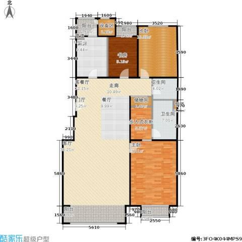 朱雀门3室1厅2卫1厨187.00㎡户型图