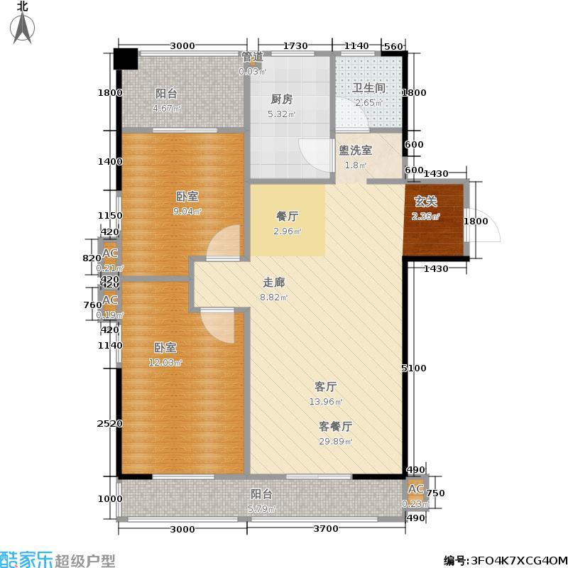 上河国际商业广场(三期)户型1厅1卫1厨