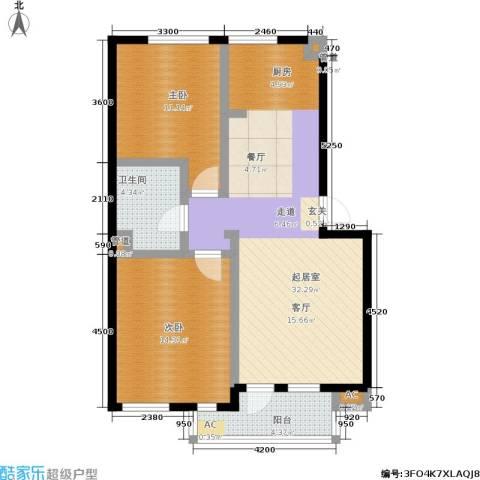 长城・都市阳光二期2室0厅1卫0厨97.00㎡户型图
