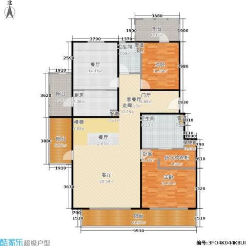 朱雀门2室2厅2卫1厨260.00㎡户型图