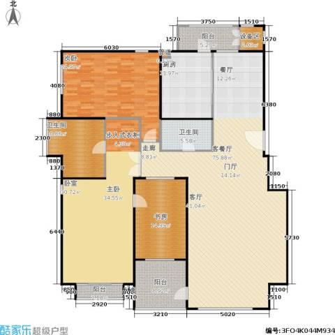 朱雀门3室1厅2卫1厨209.00㎡户型图