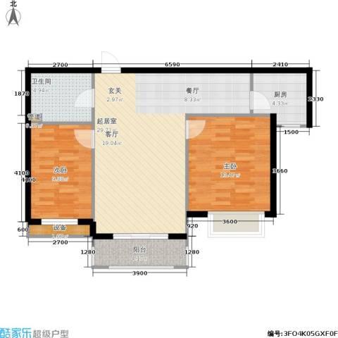 金屋·秦皇半岛2室0厅1卫1厨97.00㎡户型图
