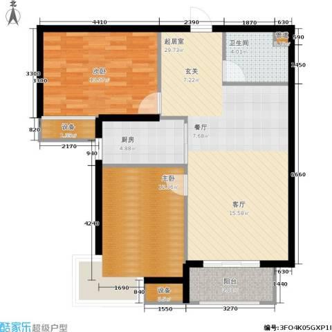 金屋·秦皇半岛2室0厅1卫1厨95.00㎡户型图