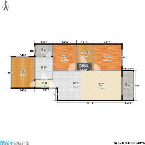 椿树园3室1厅1卫1厨148.00㎡户型图