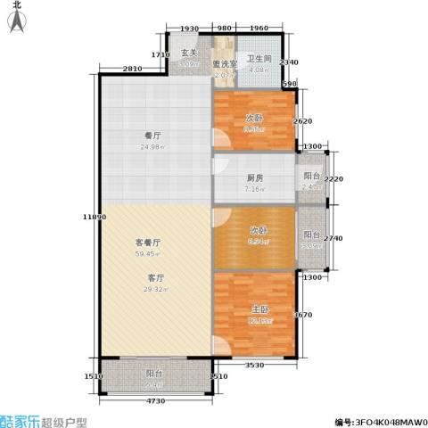 椿树园3室1厅1卫1厨150.00㎡户型图