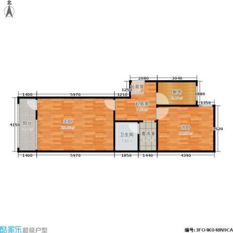 椿树园2室0厅1卫1厨85.00㎡户型图