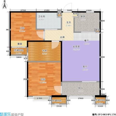 鸿坤·原乡溪谷3室0厅1卫1厨89.00㎡户型图