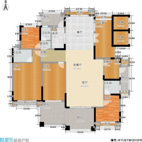 金海岸花园・聚湖4室1厅3卫1厨210.00㎡户型图