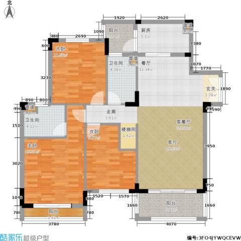 金海岸花园・聚湖3室1厅2卫1厨220.00㎡户型图