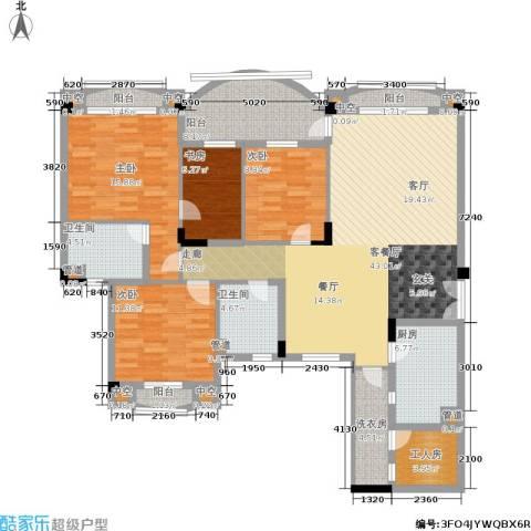 金海岸花园・聚湖4室1厅2卫1厨143.00㎡户型图