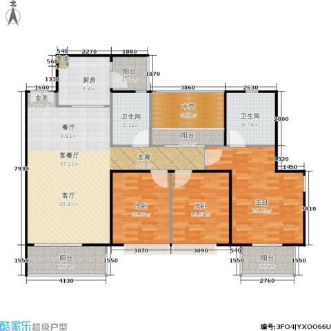 天韵瑚璟3室1厅2卫1厨127.00㎡户型图