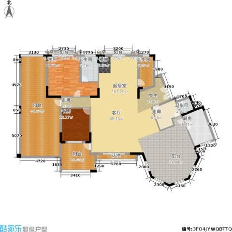 金海岸花园・聚湖2室0厅3卫1厨414.00㎡户型图