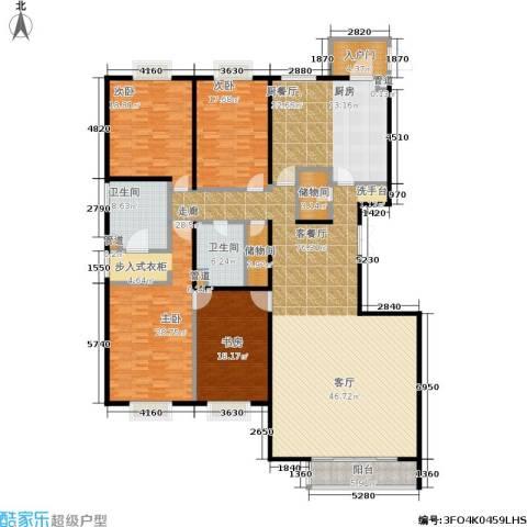 水上华城4室1厅2卫0厨249.00㎡户型图
