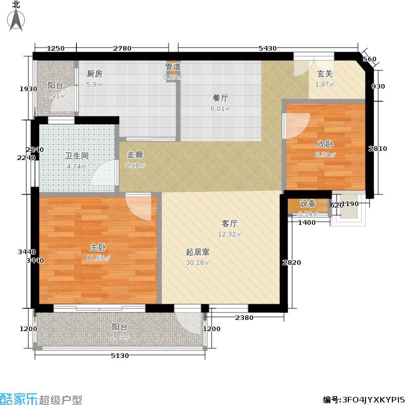 新世界凯粤湾75.00㎡新世界・凯粤湾C4栋粤景江苑户型