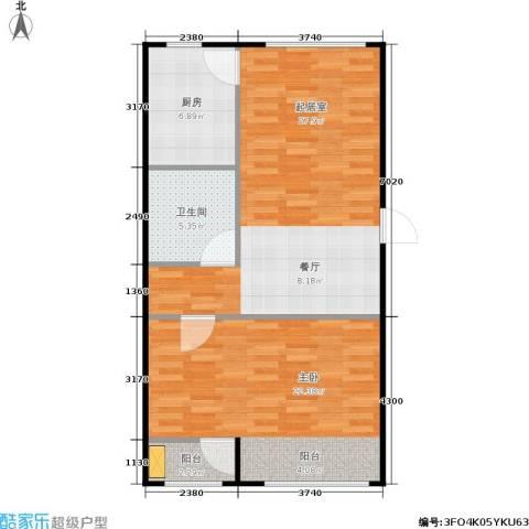 通州万达广场1室0厅1卫1厨69.00㎡户型图
