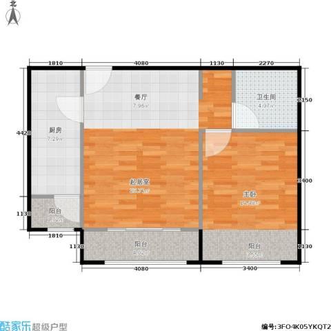 通州万达广场1室0厅1卫1厨60.00㎡户型图