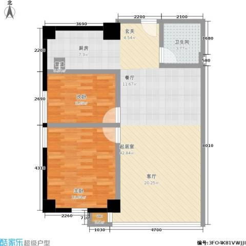 QQ生活馆2室0厅1卫0厨99.00㎡户型图