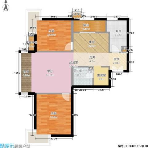 东恒时代一期2室0厅1卫1厨101.00㎡户型图