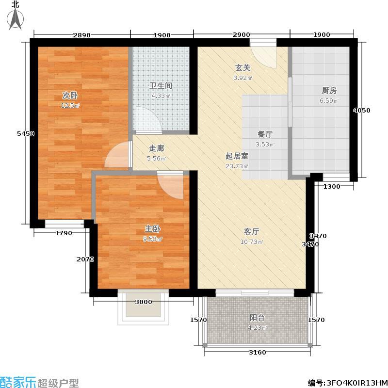 远洋沁山水5#楼B22户型