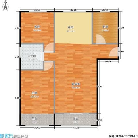 通州万达广场2室0厅1卫1厨94.00㎡户型图