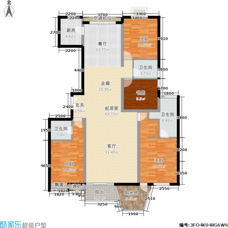 华业玫瑰东方203.00㎡香榭园B1、面积20300m户型