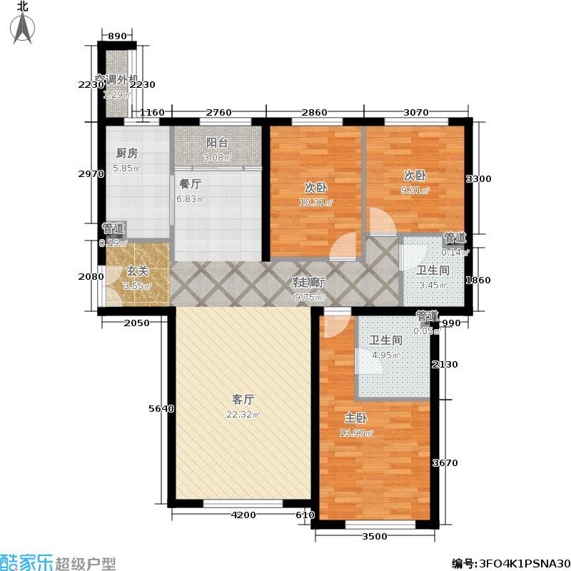福熙大道135.49㎡A8号楼户型3室2厅