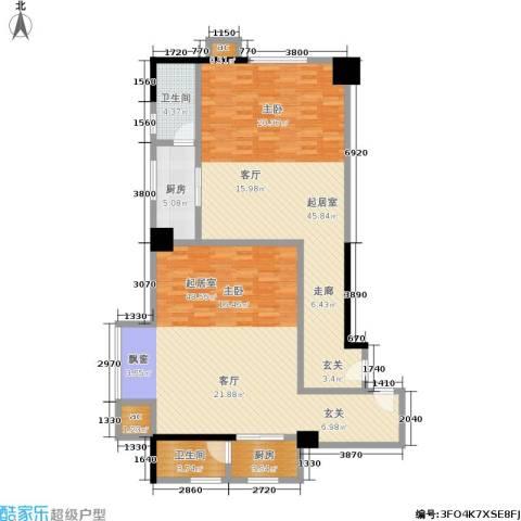 汇富中心2卫2厨112.86㎡户型图
