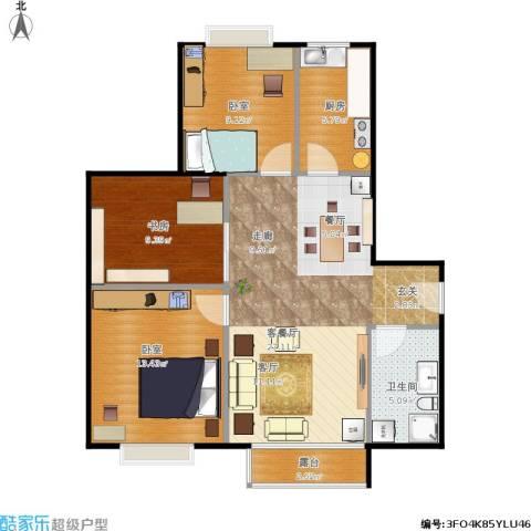 北京明发广场1室1厅1卫1厨78.09㎡户型图