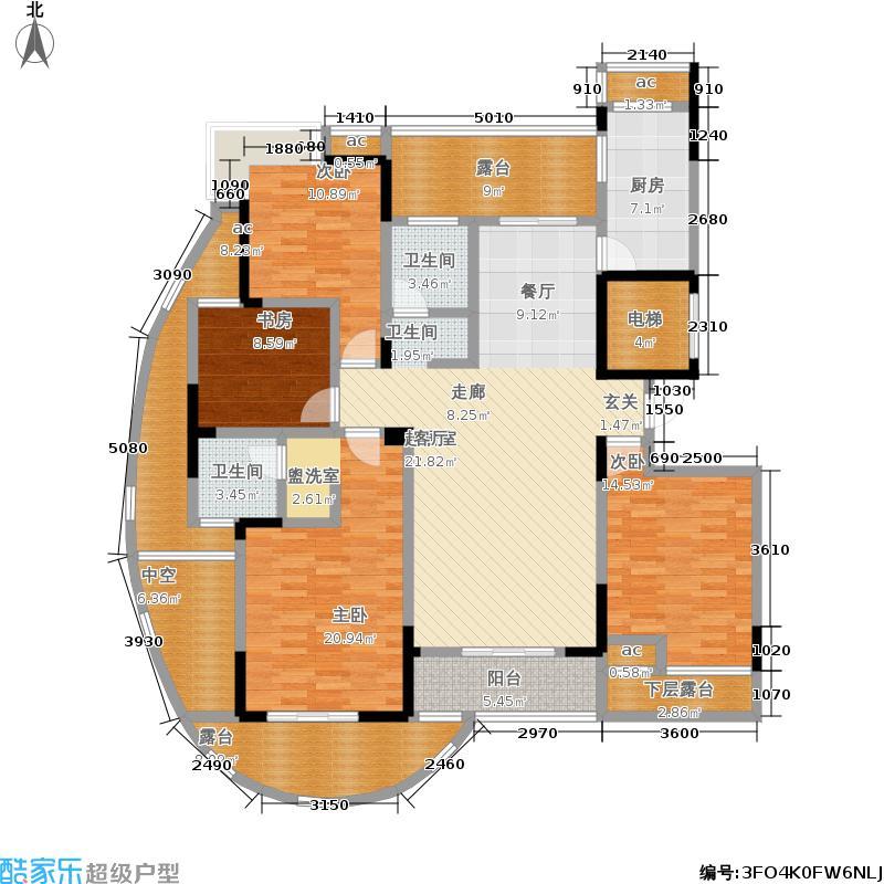 中凯东方红街157.91㎡四期4-A面积15791m户型