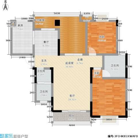 凯富漫城2室0厅2卫1厨120.00㎡户型图
