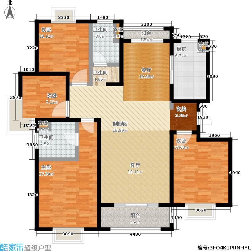 仁和都市花园140.00㎡B4户型4室2厅